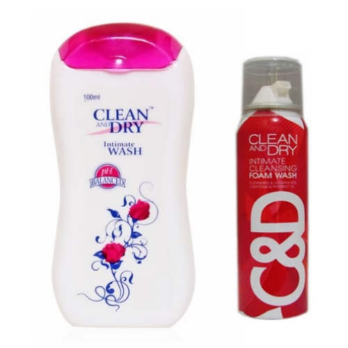 Clean and dry intimate foaming wash &  daily intimate wash