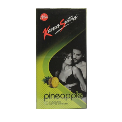 KamaSutra Pineapple Flavoured - Dotted Condoms - 10