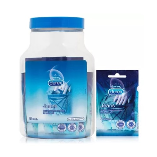 Durex Jeans Super Fit Condoms Jar 25 Pack