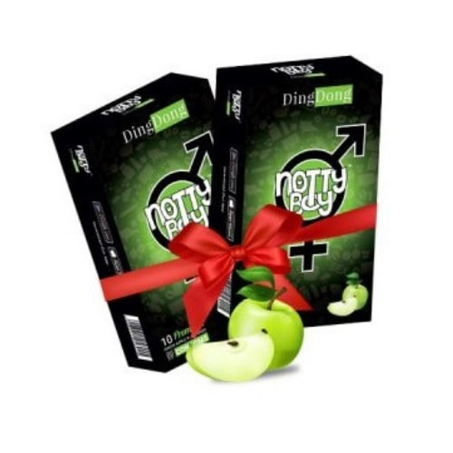 NottyBoy DingDong Green Apple Flavoured Condom 2 X 10s