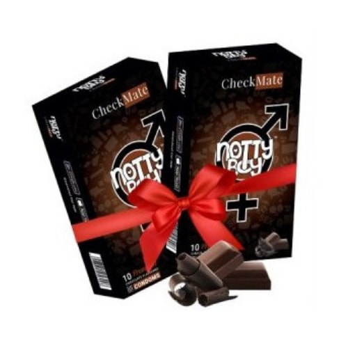 NottyBoy Checkmate - Chocolate Flavour Condom 2 X 10's
