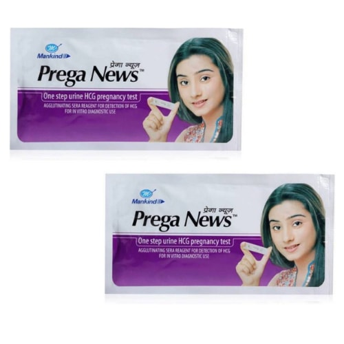 Prega News Pregnancy Test Kit- hCG level test-Pack of 2