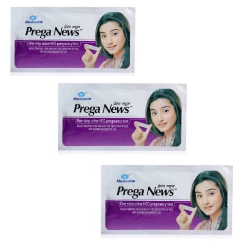 Mankind Prega News Pregnancy Test Kits- quick results- Pack of 3