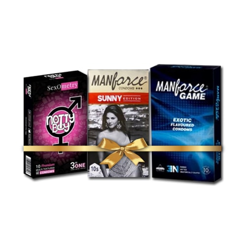 Multi Textured 3in 1 Condoms combo