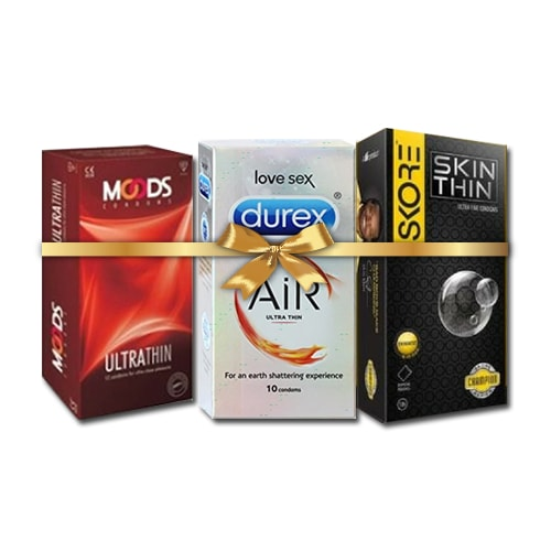 Buy Extra Slim Condoms Combo Pack of 3 online in India | shycart.com
