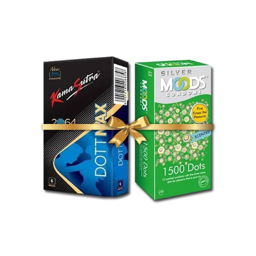 Moods 1500 dots and KamaSutra 2064 Dotted Condoms