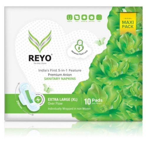 REYO Maxi Pack - Extra Large - 10 Anion Pads - 290mm for Over Flow