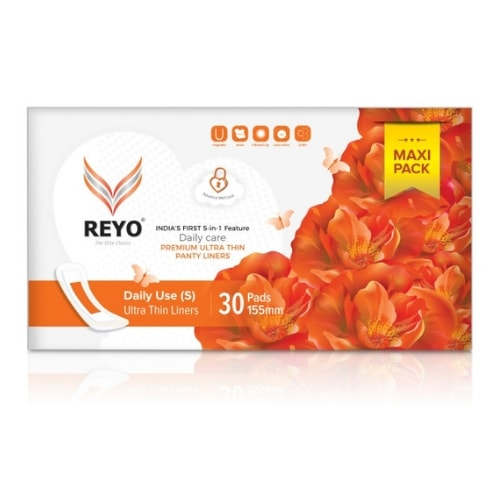 REYO Maxi Pack - Ultra Thin Panty Liners - 30 Pads - 155mm
