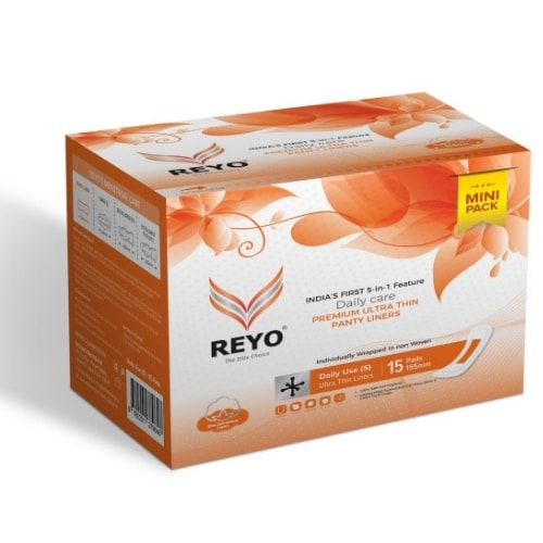 REYO Mini Pack - Ultra Thin Panty Liners - 15 Pads - 155mm