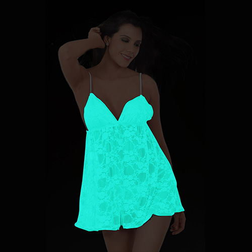 Night glow babydoll lingerie