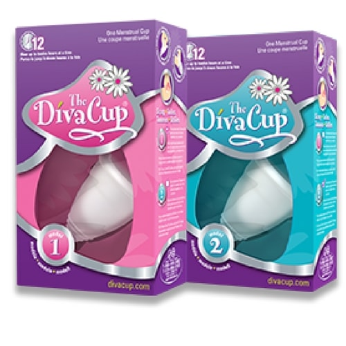Diva cup - Menstrual cup - 2 sizes - Nude colour - Hollow stem