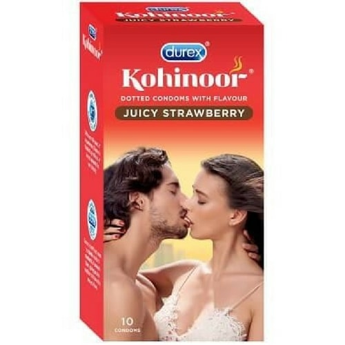 Durex Kohinoor Juicy Strawberry Flavored Condoms