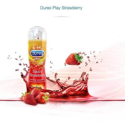 Durex strawberry flavour lubes - 50ml