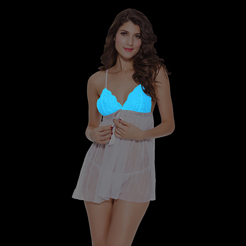 Glow in the dark lace babydoll