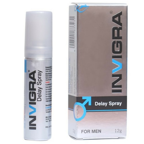 Invigra Delay Spray - 12g - Long lasting - 5 to 10 minutes prolonged pleasure