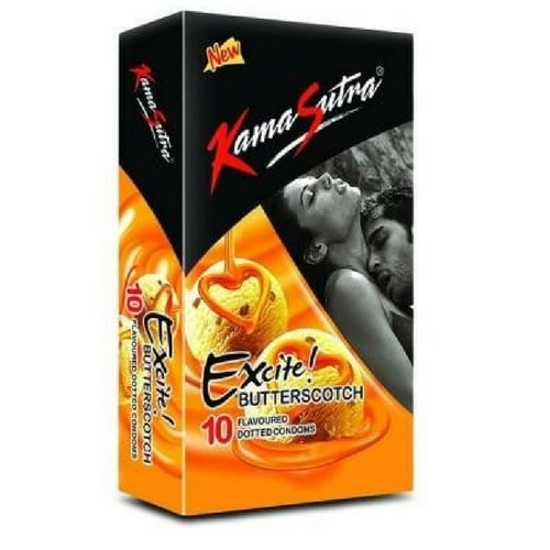 Kamasutra excite butterscotch flavoured 12s condoms