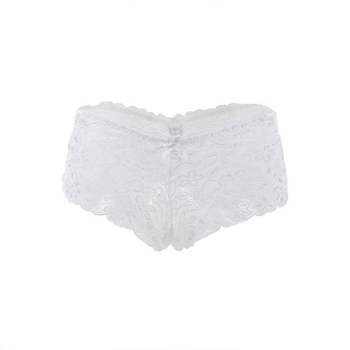 White Sexy High Waist Floral Lace Panty