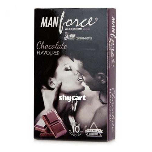 Manforce chocolate flavoured condoms 10