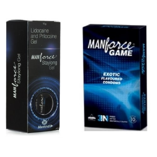 Manforce Exotic 3 In 1 Condom and Staylong Gel