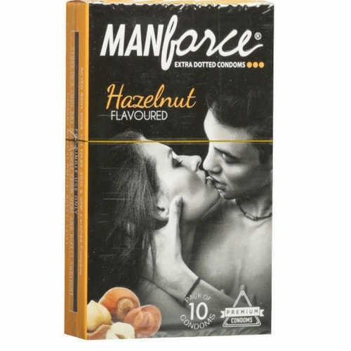 Manforce Hazelnut Flavoured Condoms 10