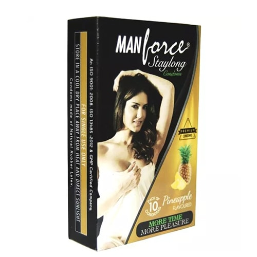 Manforce pineapple flavoured condoms 10