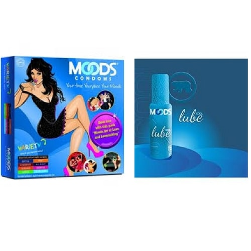 Moods Assorted Condoms and Lubes