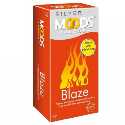 Buy Moods Silver Blaze Condoms 12's Pack online in India | shycart
