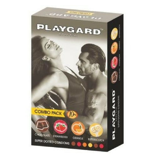 Playgard Super Dotted Condoms 10's Combo Pack