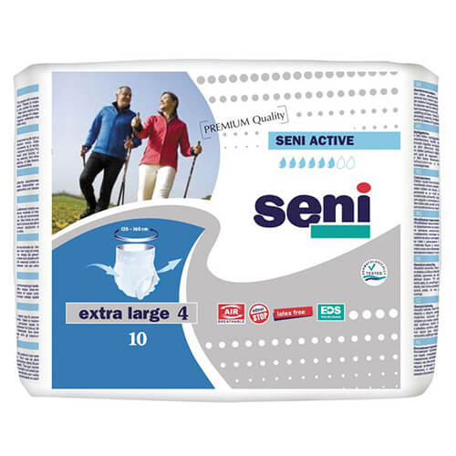 Seni active extra large(xl) a10 - adult diapers 10 pcs