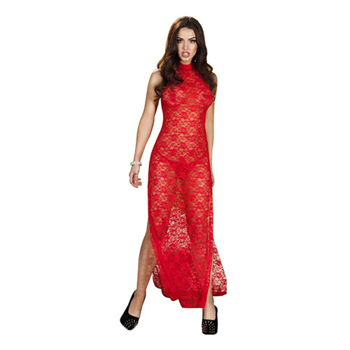 Sexy Bride To Be Red Sleepwear Gown