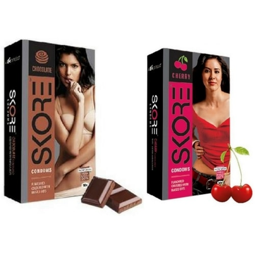 Skore Cherry and Chocolate Condoms Combo
