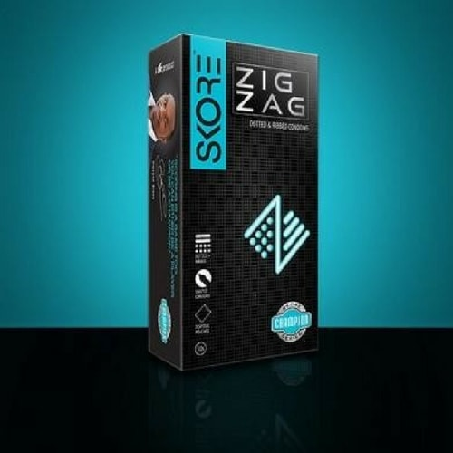 Skore zig zag dotted & ribbed condoms 10