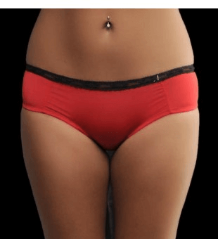 Slim hipster panty - red