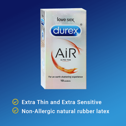 Durex Air Ultra Thin Condom - Close Fit 0.045 mm thin - 10 Condoms
