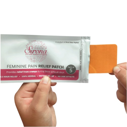 SIRONA Feminine Pain Relief Patches - 5 Pcs - 100% Herbal