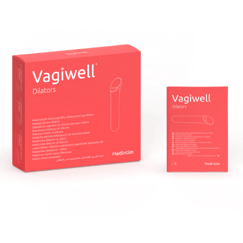 Vagiwell Silicone Dilator set - 5 different sizes