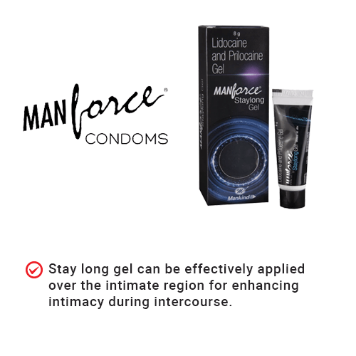 Manforce Staylong Gel Pack of 2 - 8g Each - 6 to 8 Minutes delay