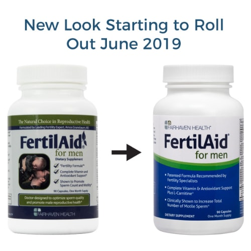 Fertilaid for Men - Male Fertility Supplements 90 capsules - Made in USA