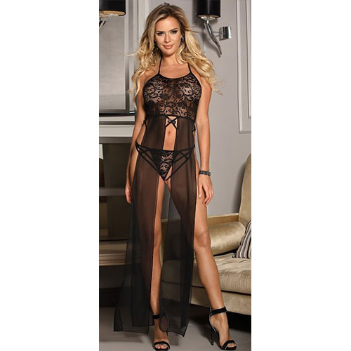 Women Black Sexy Night Dress