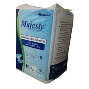 Romsons majesty extra absorbency premium adult diapers large size (10/pack)