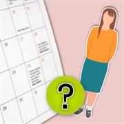 Menstrual cycle reminder for 1 year